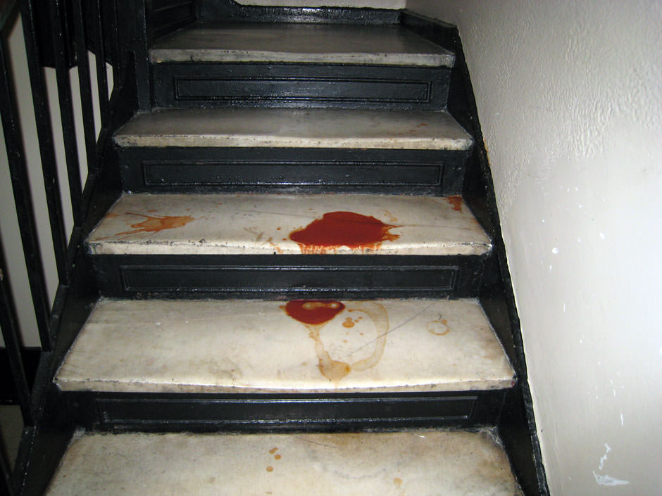 Picture of bloody stairs