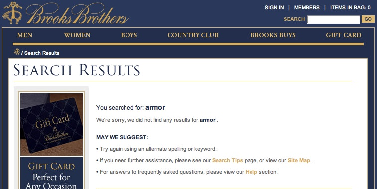 Brooks Brothers search results