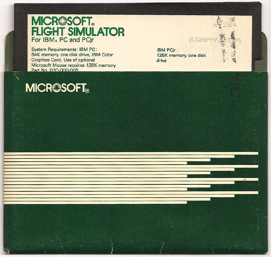 MS Flight Simulator v2 Floppy Disk - front