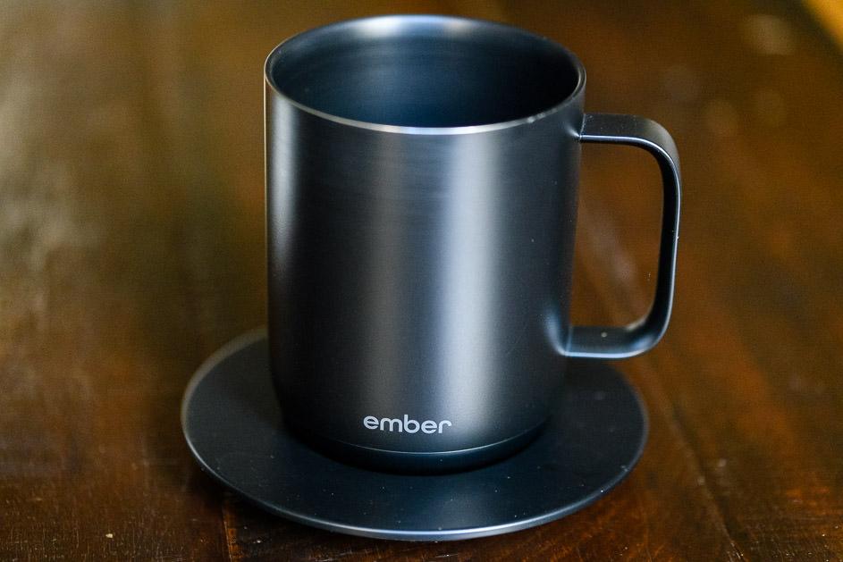 Ember mug in charging cradle