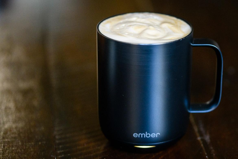 Ember mug with coffee